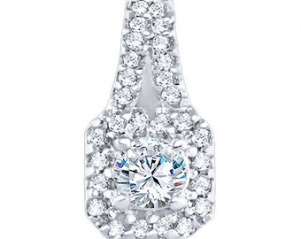 Sterling Silver Beautiful Fashion Pendant with Cubic Zirconia