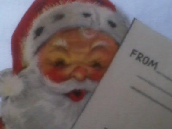 Antique-Vintage 1940's 4th Class Santa Christmas Mail Label