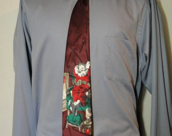 Mens Christmas Santa Tie for Ugly Sweater Party