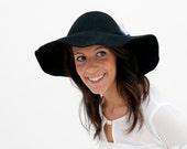 Fraser - Sombrero de Fieltro Negro con detalle de Lazo Gris