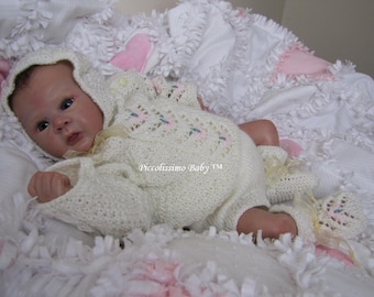 "knitting pattern for a 19-20""/45-50cm cream sweater set with flowers reborn baby ooak"