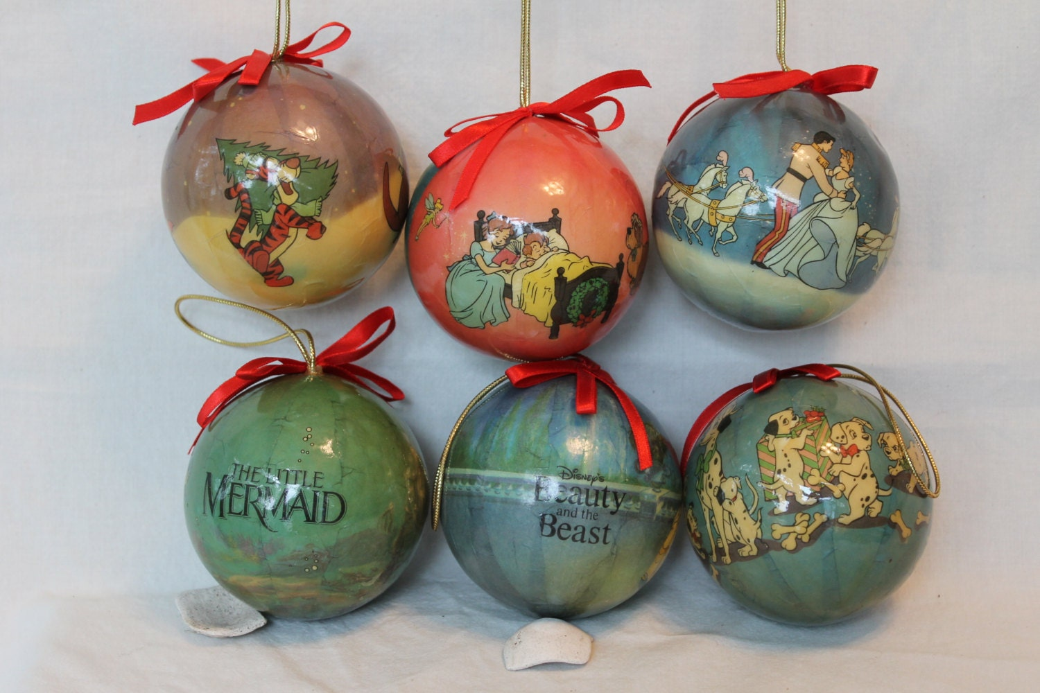 vintage paper mache xmas ornament ball christmas