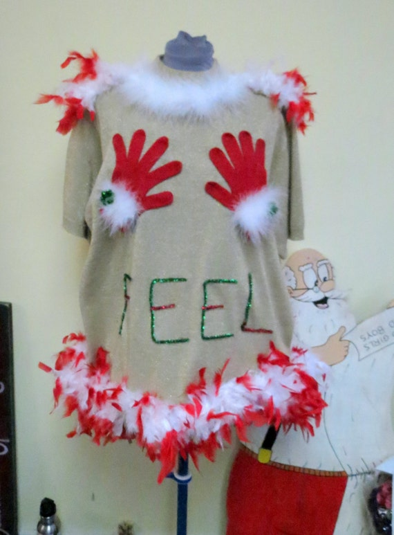 Feel The Joy Tacky Ugly Christmas Sweater By