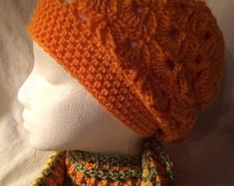 Women's shell slouchy in mango orange