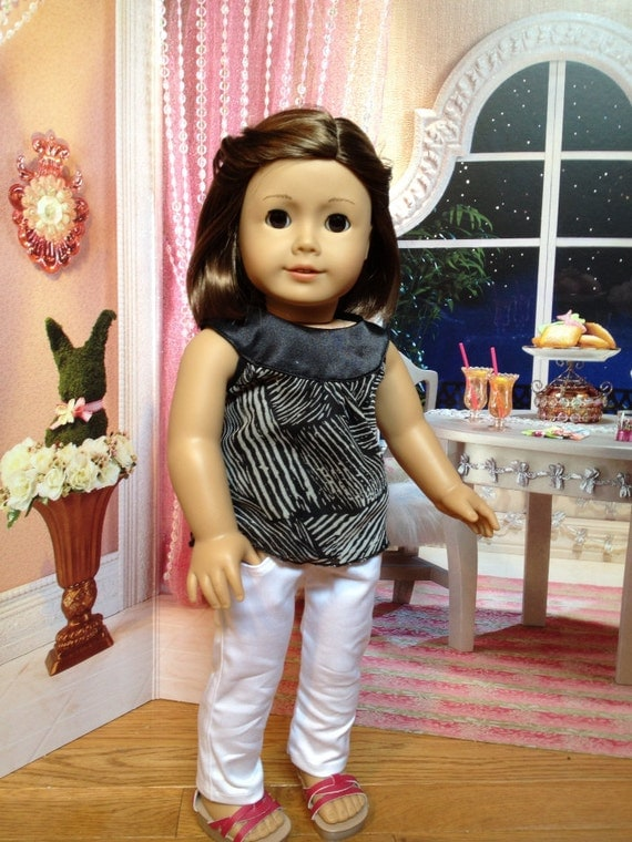 American girl doll clothes - Dressy Top and White Skinny Jeans