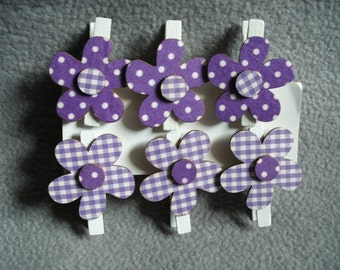 Clip with flower, 6 pieces (171)