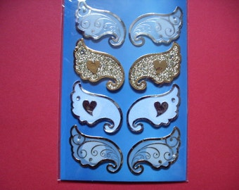 Stickers, wings, 3D, 1 sheet (235)