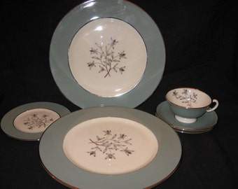 Sale!!! From 115.00 Lenox Kingsley Discontinued Dinnerware Set /Lenox China/China Set/ Retro Dinnerware