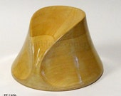 WF 1356 Wooden hat block, millinery, hut form, form a' chapeau, fascinator, forma kapeluszowa, Vintage wooden hat block