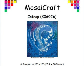 MosaiCraft Pixel Craft Mosaic Art Kit 'Catnap' (Like Mini Mosaic and Paint by Numbers)