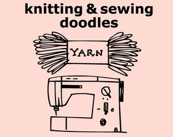 Knitting & Sewing Doodles Font