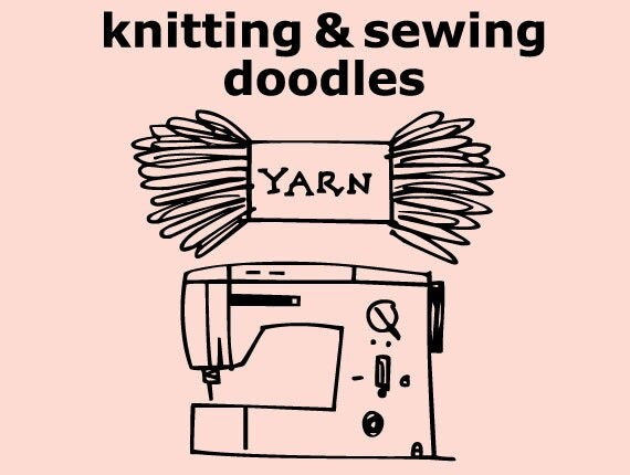 Knitting Fonts For Mac : Knitting sewing doodles font