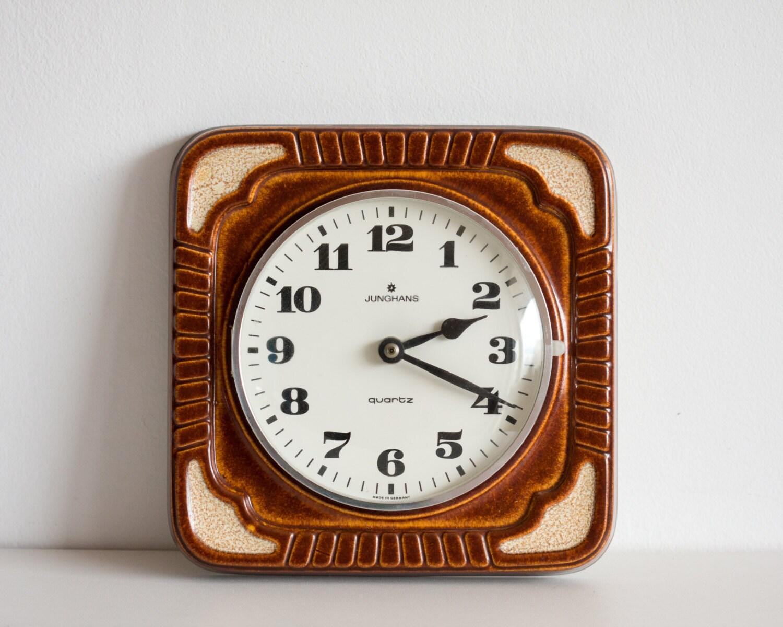 Kitchen Clock Ceramic Quartz Wall Clock Vintage Retro Clock