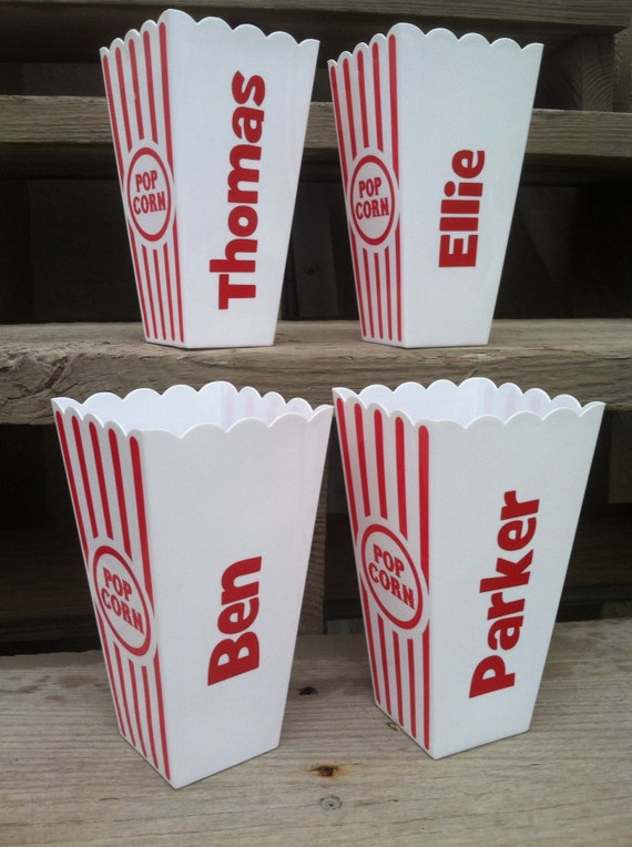 Personalized Popcorn Cups Containers By Toocutepersonalized