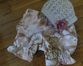 Bloomer and Bonnet Set
