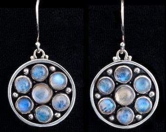 Moonstone Sterling Silver Earrings: GUINEVERE