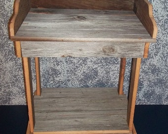 Handcrafted Dry Sink From Century Old Reclaimed Barnwood