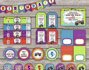 PRINTABLE Monster Splash InstaParty- Deluxe Package - Digital pdf files