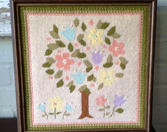Vintage Embroidery Wall Hanging/Needlepoint
