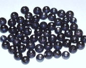 Lot of Black Round Porcelain/Glass Beads