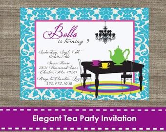 Elegant Tea Party Invitation - DIY - Printable