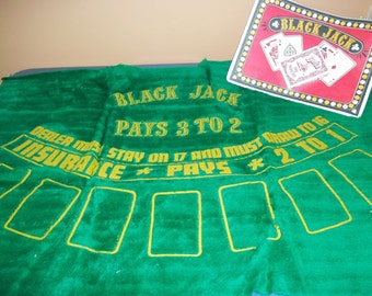 1979 JUMBO Black Jack Rug / Multiflex Industries / Game / Black Jack Game - Black Jack