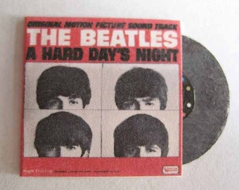 Record Album Beatles A Hard Day's Night Movie Soundtrack - dollhouse miniature 1:12 scale