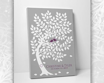 Unique Wedding Guest Book - Wedding Guest Book Ideas -  Classic Oak Tree - 55-250 Guests - 16x20, 20x30 or 24x36 - Canvas Promo