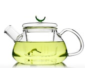 HandMade Gift Mouth Blown Clear Glass Infuser Teapot Kettle with Lid 300ml / 600ml - Loarre Unihom
