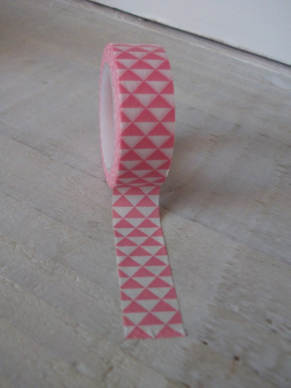 Washi tape pink geometric design for Geometric washi tape designs