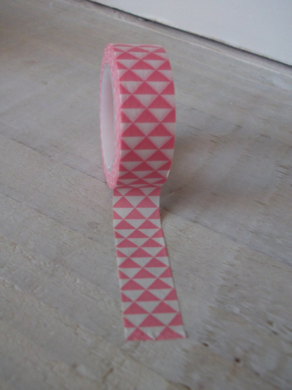 Washi tape pink geometric design from florrieandboo on for Geometric washi tape designs