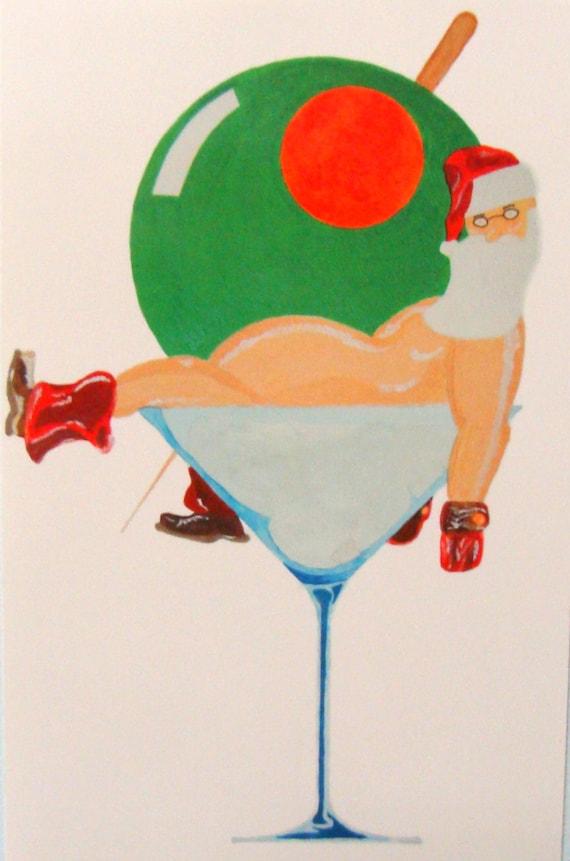 Martini Santa Oversized Post Card
