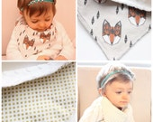 Bandana Scarf or Bib for Babies and Toddlers Choose your Fabrics