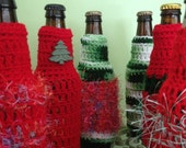 Ugly Sweater Beer Koozie, Ugly Christmas Sweater Party Favors, Crocheted Beer or Soda Bottle Koozie, Made to Order for Your Party - BeachDaisyJewelry