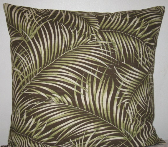 Decorative Pillow Palm Tree : Palm tree print decorative pillow cover 18 x 18