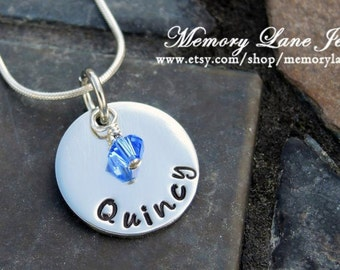 One Child Birthstone Necklace