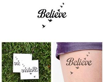 Fly Birds - Temporary Tattoo (Set of 2)