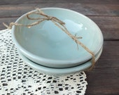 Simple Celadon Blue Bowls Set of Two