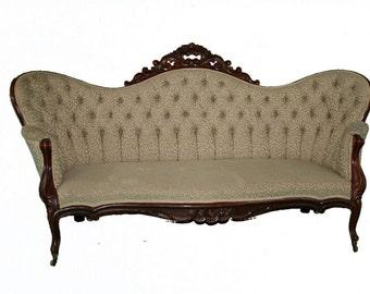 New Price ** Large Victorian Sofa
