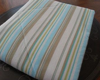 Light Blue Striped Comforter -Baby Comforter -Toddler Comforter -Ready to Ship