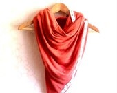 Snap scarf, yoga clothes, nursing scarf - Pink, Coral , jersey- woman gift idea, woman clothes