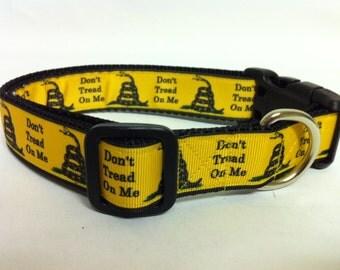 Snake Don't Tread on Me Dog Collar