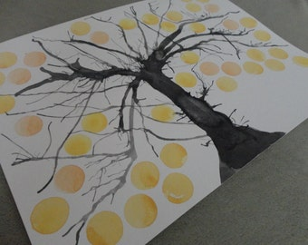 "PRINT Wedding Guest Book Alternative Tree of Life. 40 Signatures, Size 11""X15"""