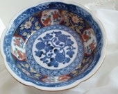 Chinese porcelain.Takahashi Vintage Decorative Porcelain bowl 6inches wide x 2 inches deep