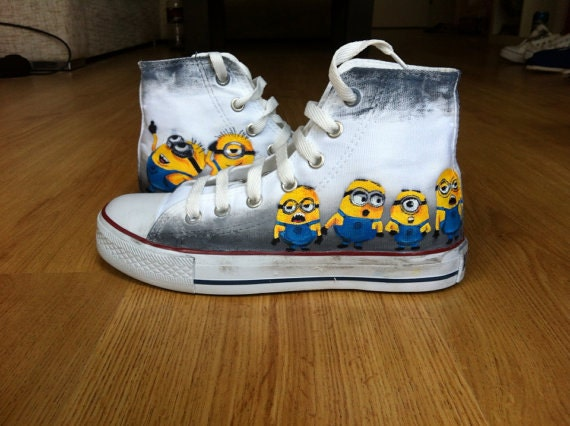 Custom Converse Shoes Minions by denimtrend on Etsy