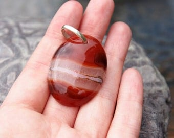 Agate necklace, pendant, striped agate necklace, agate stone, agate jewelry, stone pendant, agate pendant, stone jewelry, striped agate