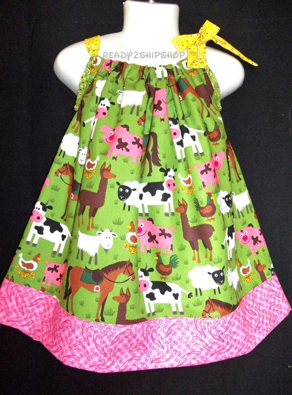 Barnyard Outfit Birthday Party Dress Farm Baby By