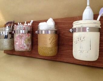 Mason Jar Wall Storage/Organizer