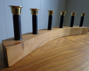 Reclaimed Heart Pine 6 Place Candle Holder