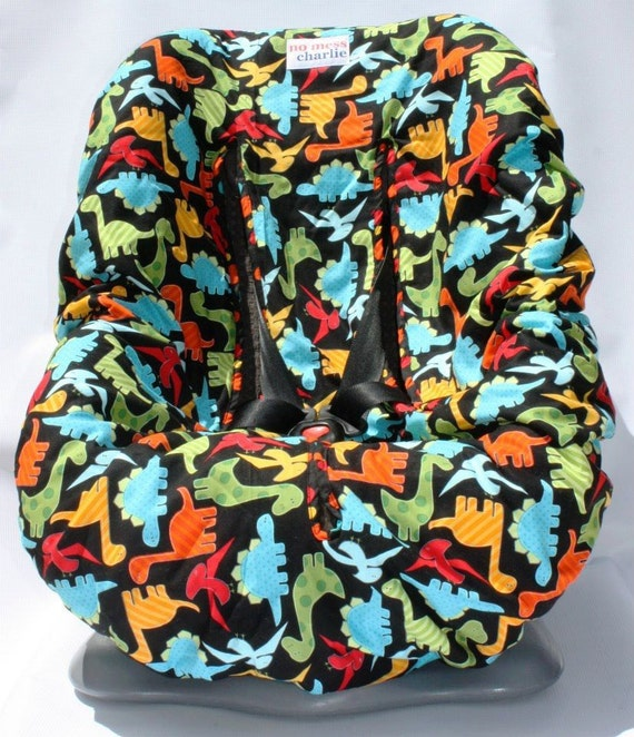 items similar to dino delight baby car seat cover on etsy. Black Bedroom Furniture Sets. Home Design Ideas